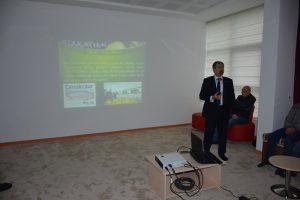 Yüksekokul Müdürümüz Türkeli'de Söyleşiye Katıldı